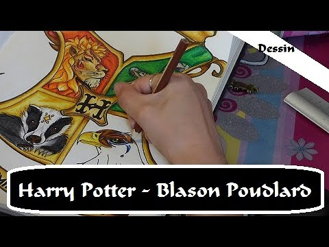 Le Blason De Poudlard Harry Potter Speed Draw 1 Youtube