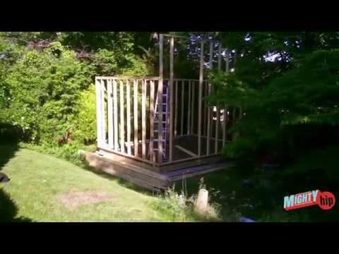Shed music studio build DIY - video 2
