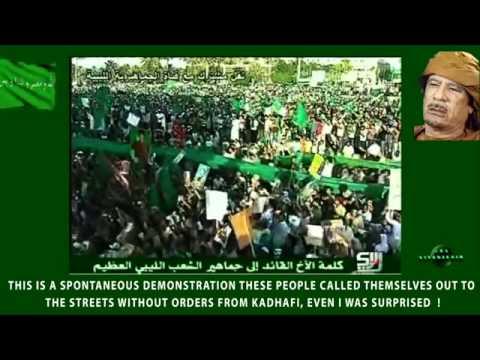 Gaddafi-Rede, Qadhafi speech, 1.7.2011 Tripoli, Libya, engl. subtitles PART 1/3