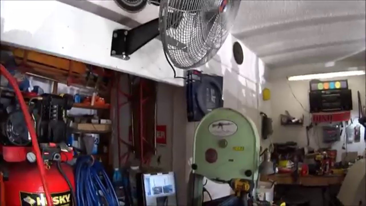 20 Oscillating Wall Mount Fan Install 10236 From Northern Tools Electric Radiator Wiring Diagram Youtube