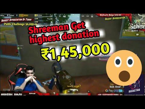 Shreeman Legend Get Highest Donation From Superchat