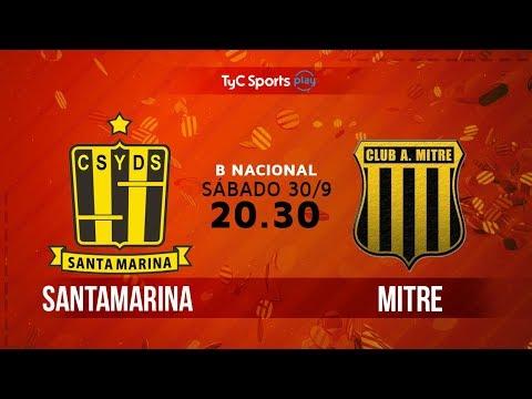 Primera B Nacional: Santamarina vs. Mitre | #BNacionalenTyC