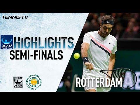 Highlights: Federer Sets Dimitrov Blockbuster In Rotterdam 2018 Final