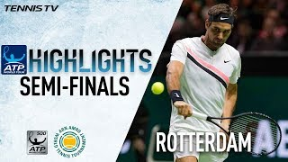 Highlights: Federer Sets Dimitrov Blockbuster In Rotterdam 2018 Final