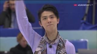 Yuzuru Hanyu - NHK Trophy 2016 - SP Let's Go Crazy (Eurosport Spain...