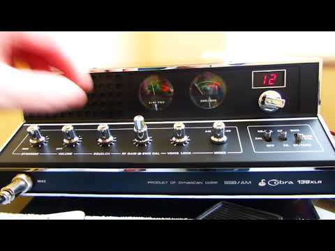 COBRA 139 XLR 1977 CB RADIO SSB DYNASCAN CORP WITH FM & UK40