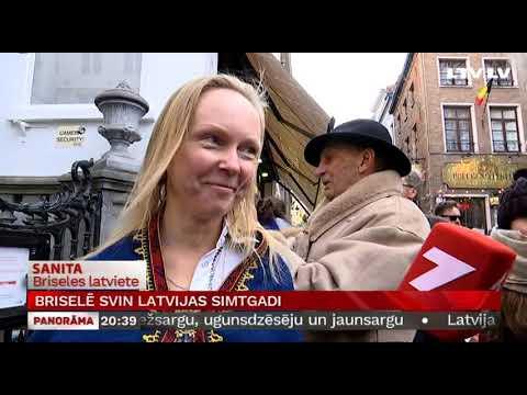 Briselē svin Latvijas simtgadi