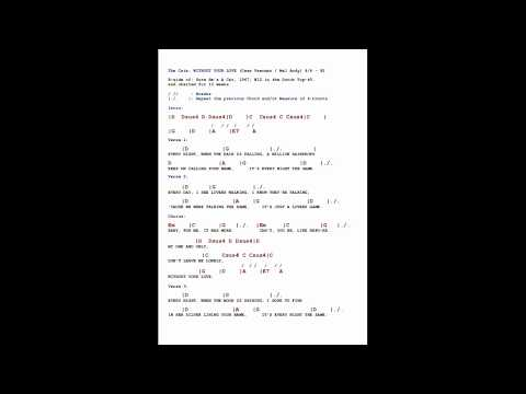 The Cats - WITHOUT YOUR LOVE - Free* Lyrics & Chords In SYNC