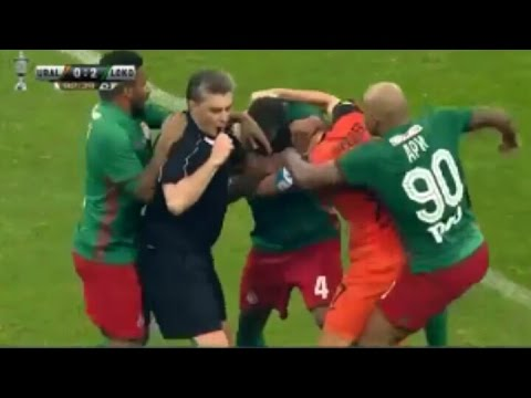 Russian Cup Final Football Fight May 2017