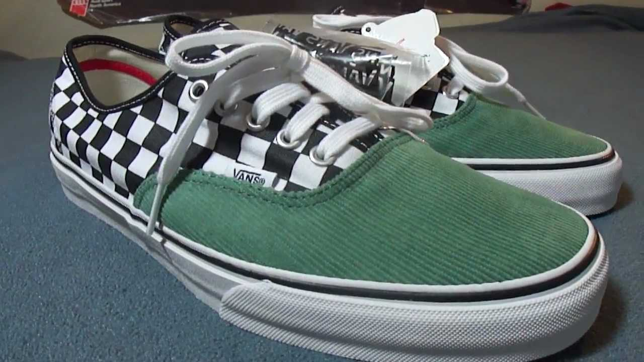 54549c338728f2 Shoe Review  Vans x Supreme  Checker   Corduroy  Authentic Pro (Seafoam)