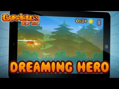 Garfield's Wild Ride - iOS/Android - Dreaming Hero (Trailer)