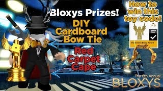 Roblox Bloxys | Wie man Red Carpet Cape & DIY Golden Bloxy Shades! Plus Giveaway Ankündigung.