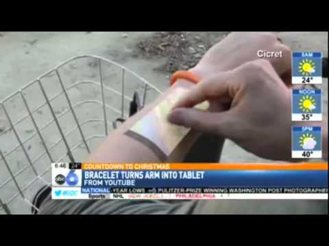 The Cicret Bracelet is getting USA! (ABC6 in Ohio)