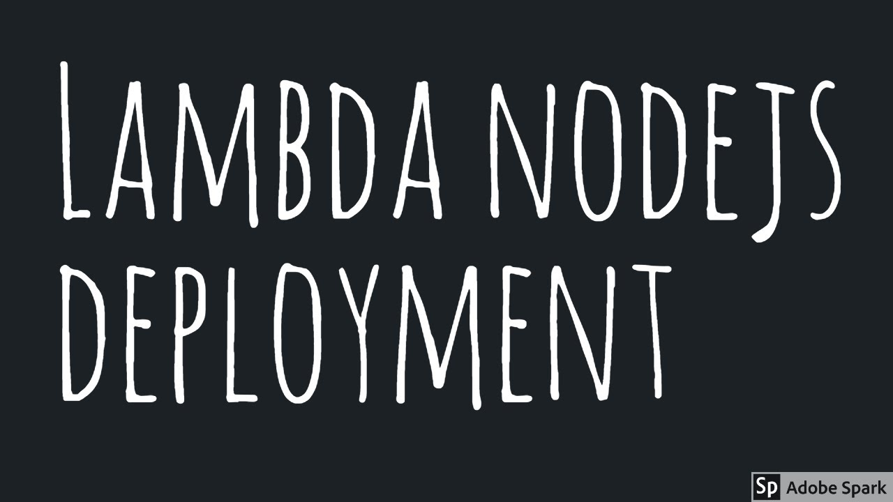 AWS Lambda Creating Deployment Package nodejs