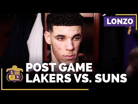 Lonzo Ball On Lakers Defensive Lapses, Lack Of Focus In Loss To Suns