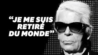 Karl Lagerfeld ne voulait pas laisser de trace