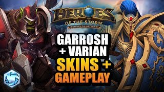 High Warlord Garrosh + Grand Marshal Varian gameplay // Heroes of the Storm