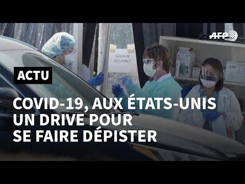Aux Etats-Unis, des dispositifs de test du coronavirus au volant   AFP News