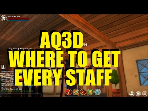AQ3D Where To Get Every STAFF! AdventureQuest 3D