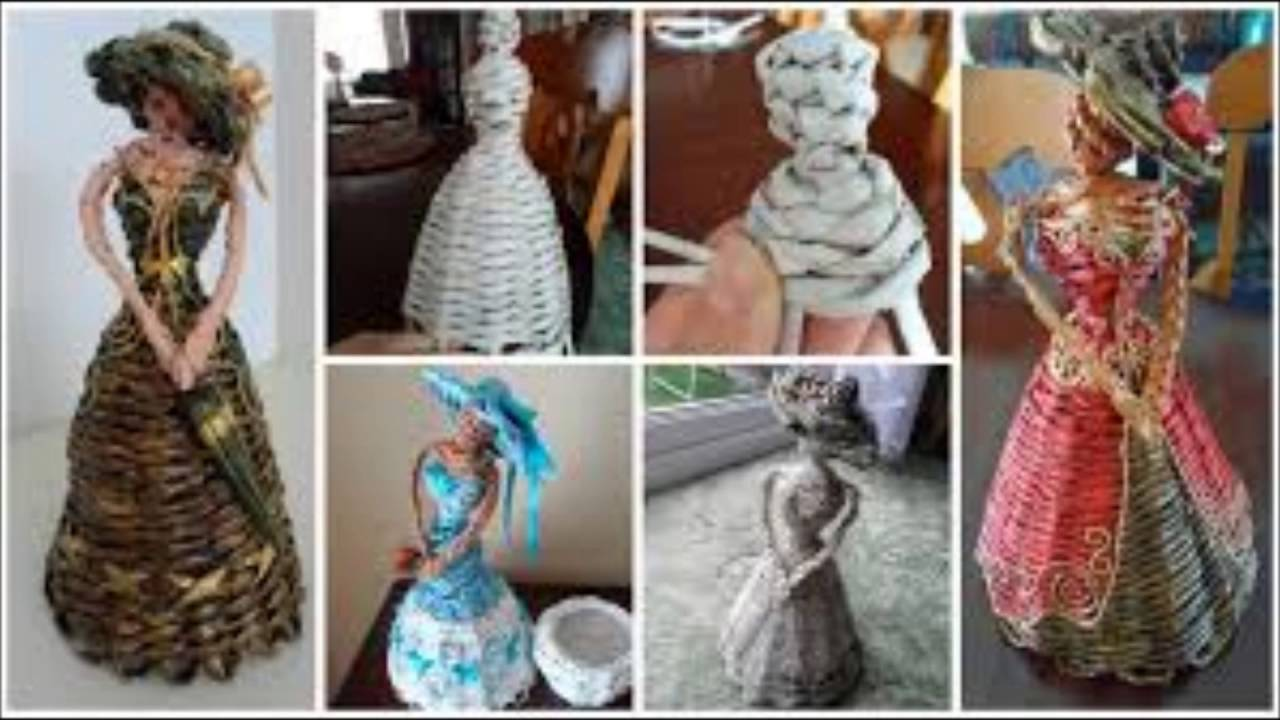 Amazing Craft Ideas For Selling Made From Newspaper Learning Process Youtube