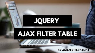 Jquery Ajax Filter Table [ Updated ]