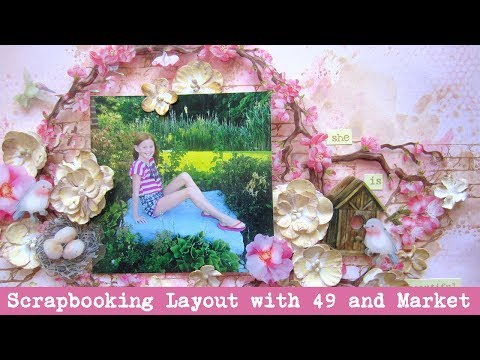Quick and Easy Scrapbooking Layout with 49 and Market and Tim Holtz Distress Oxide Inks