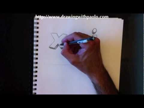 dessiner des lettres 3d xyj avec paolo morrone youtube. Black Bedroom Furniture Sets. Home Design Ideas