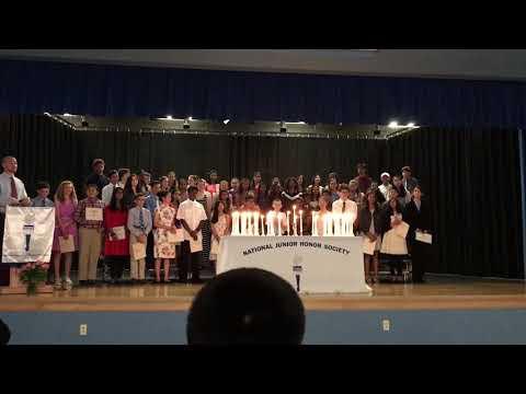 Utkarsh NJHS induction ceremony - Hallie Wells Middle School