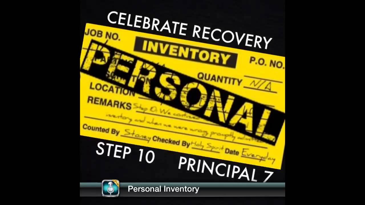 Stoney Craft -- Celebrate Recovery ~ Personal Inventory - YouTube