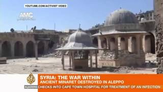 Syria fighting in Aleppo destroys UNESCO site