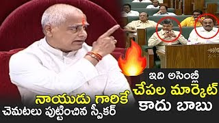 AP Assembly Speaker Tammineni Aggressive Comments on Chandrababu Naidu | TDP | YSRCP | News Qube