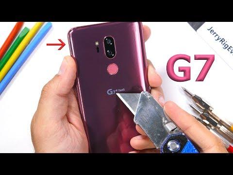 LG G7 ThinQ Durability Test! - Scratch, Burn, BEND tested!