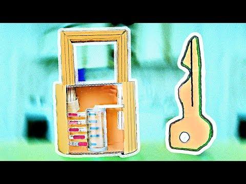Как сделать замок из цветного картона