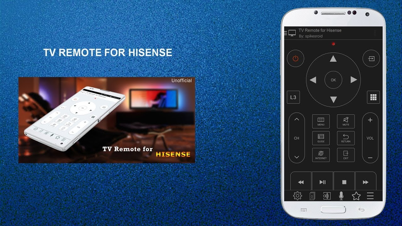 TV REMOTE FOR HISENSE