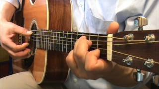 poem on an underground wall-fingerstyle-chords-paul simon-cover