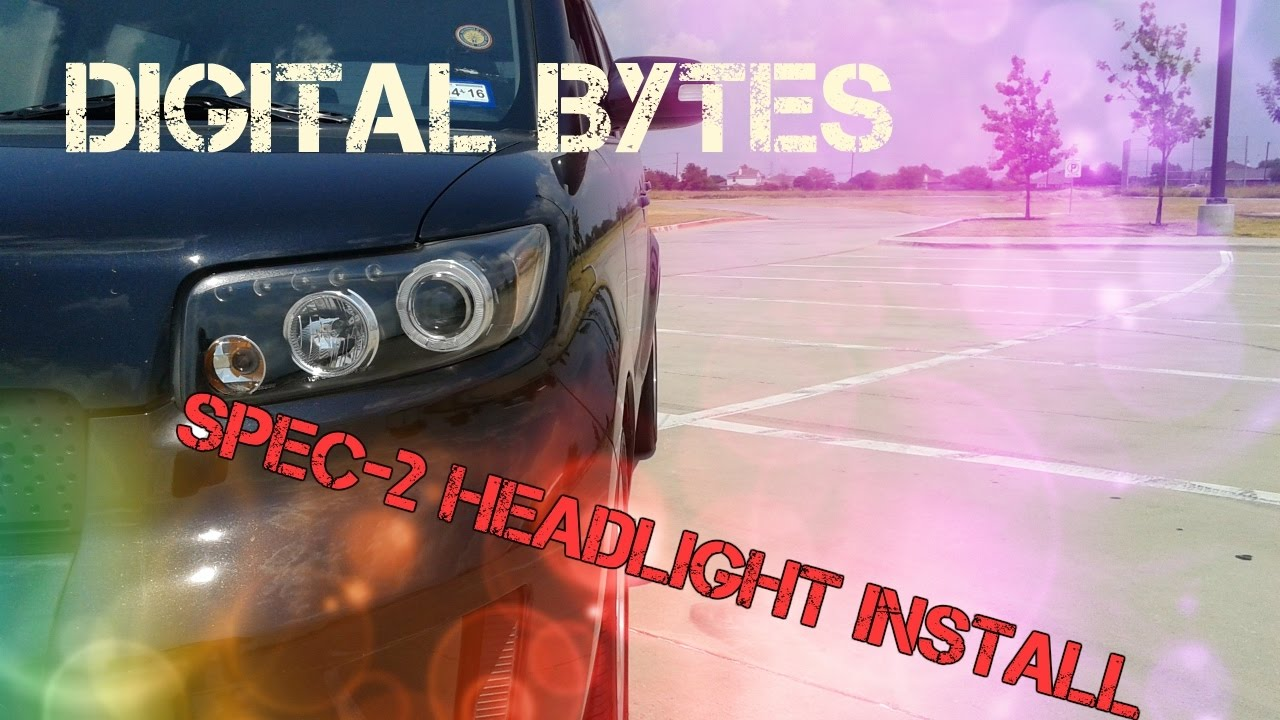 spec 2 headlight install on a scion xb 2010 [ 1280 x 720 Pixel ]