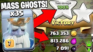 MASS ROYAL GHOSTS is Actually REALLY GOOD!! - Clash of Clans