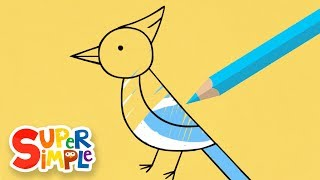 Drawing And Coloring Birds | + More Drawing For Kids | Watch & Learn