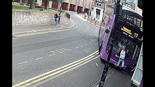 Double decker bus hits man in Reading