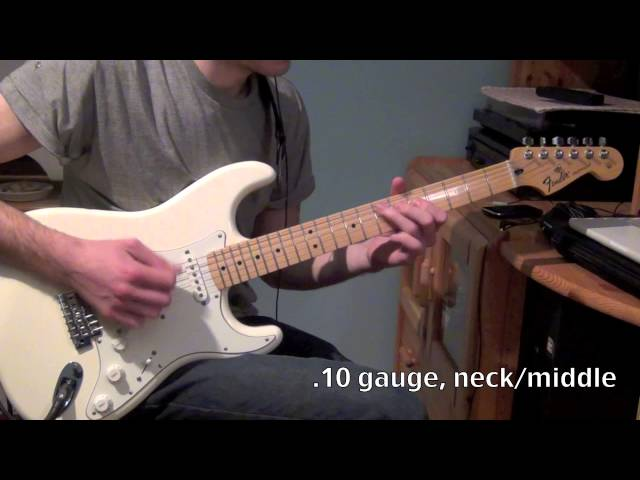 String Shootout - .10 vs .09 gauge