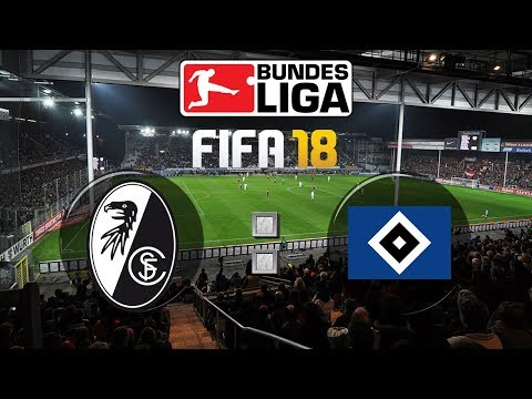 FIFA 18 Bundesliga Sport-Club Freiburg : Hamburger SV | Gameplay Deutsch Livestream
