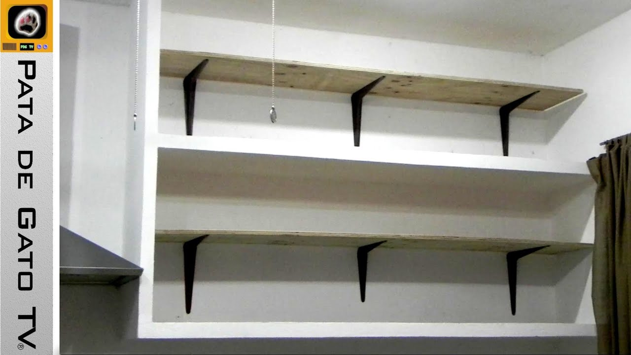 Como hacer e instalar repisas build and install shelves - Decorar paredes facil ...