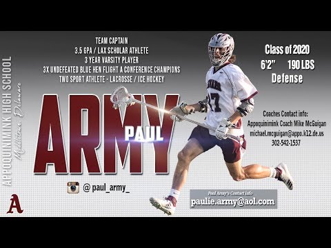 Paul Army, 2020 Appoquinimink High School, 2019 Highlights