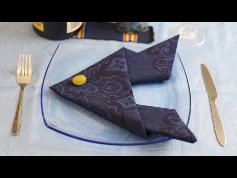 🐠 Fish Napkin Fold (Table Decoration Ideas)