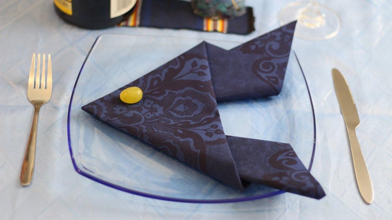 Fish Napkin Fold (Table Decoration Ideas) - YouTube