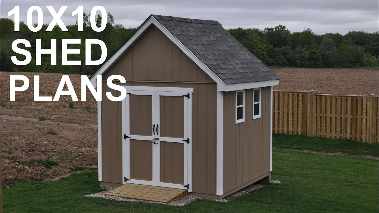 10x10 Shed Plans And Storage Shed Designs