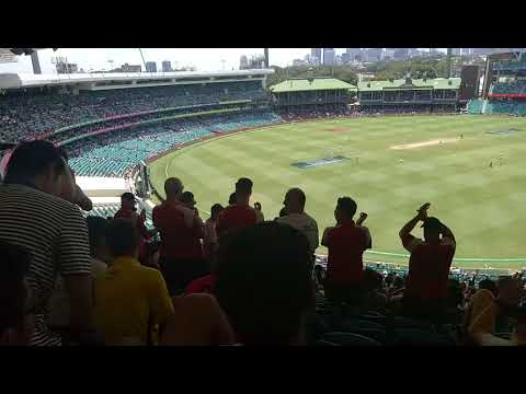 """Ashes 2017/18 - SCG Day 5 (Bay 314) - Barmy Army - God Save """"Your"""" Queen"""