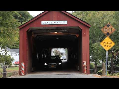 West Cornwall Covered Bridge over the Housatonic River in Connecticut, USA - Unravel Travel TV