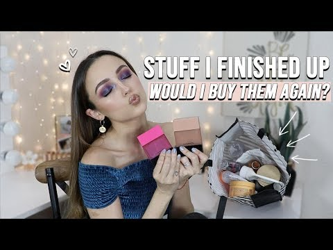 GOING THROUGH MY TRASH | BEAUTY PRODUCTS I COMPLETELY USED UP