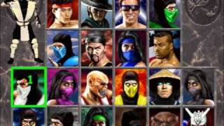 connectYoutube - Secret Mortal Kombat 2 Character Select Screen